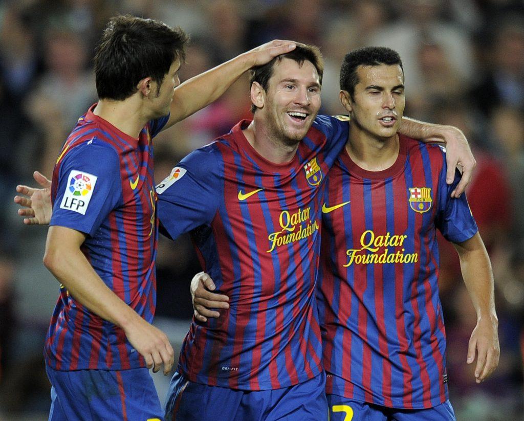 Tridents: Messi, Villa and Pedro   Barca Universal