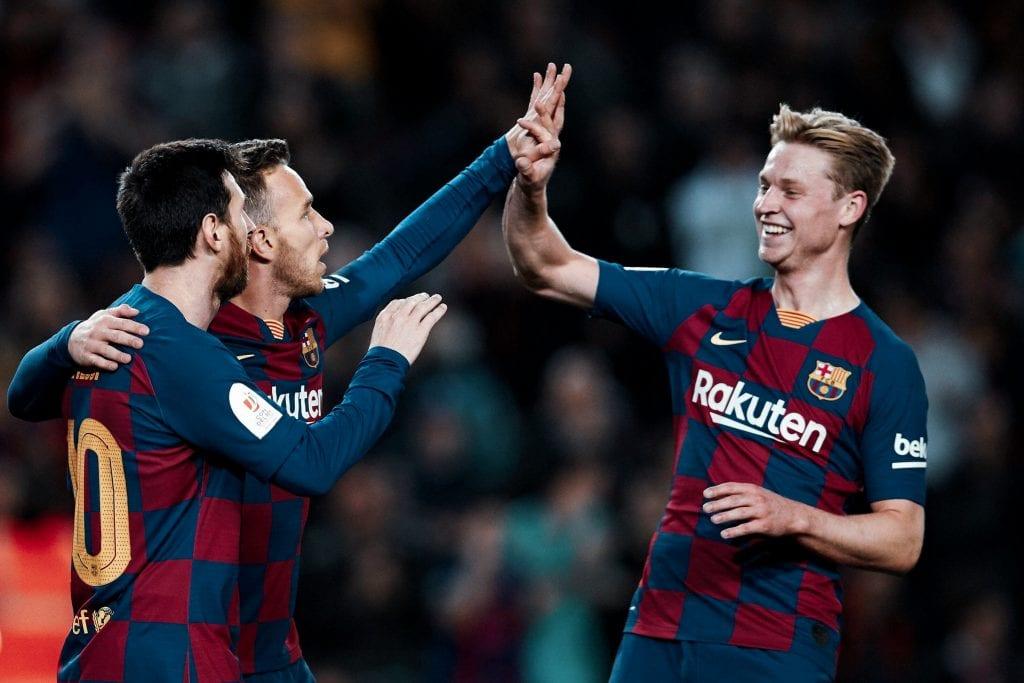 Frenkie de Jong Leo Messi Arthur Melo Barcelona transfer