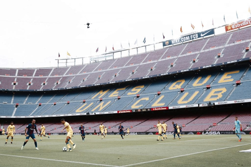 Barça Las Palmas Camp Nou football back