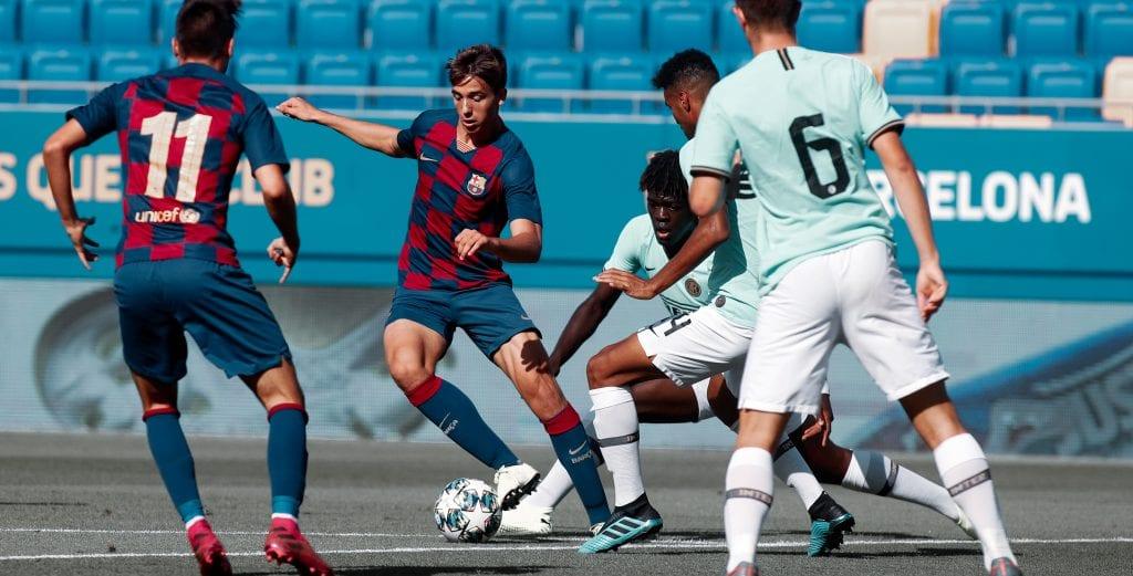 Nico González UEFA Youth League Barcelona Franc Artiga Juvenil A