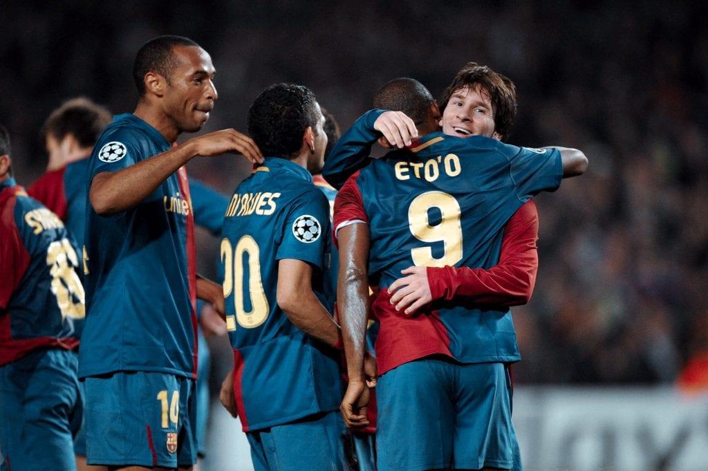 Thierry Henry Samuel Eto'o Leo Messi Barcelona