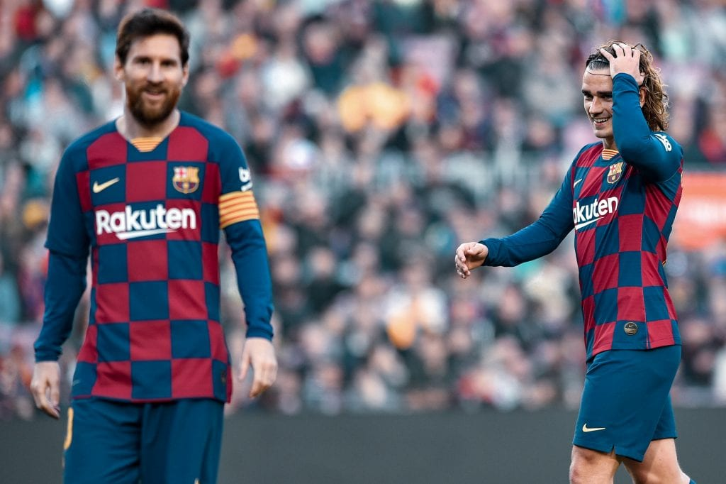 Lionel Messi Antoine Griezmann Barcelona Liverpool attacks