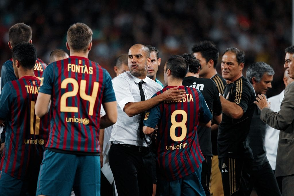 Pep Guardiola coached Barcelona