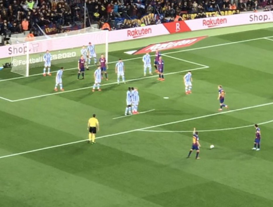 Messi freekick Sociedad