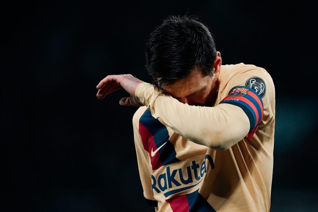 Lionel Messi Quique Setién Barça Champions League