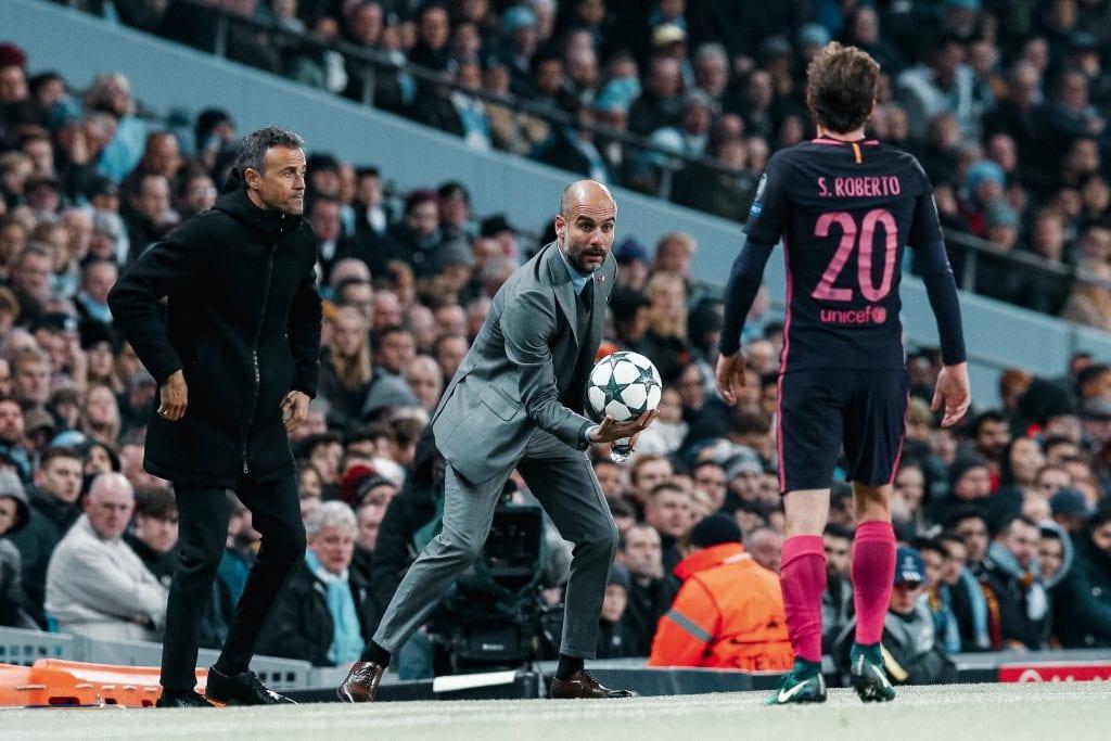 Sergi Roberto Luis Enrique Barcelona Pep Guardiola Manchester City La Masía
