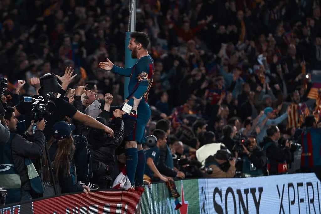 Lionel Messi Barcelona PSG 2017 Champions League empty stands performances