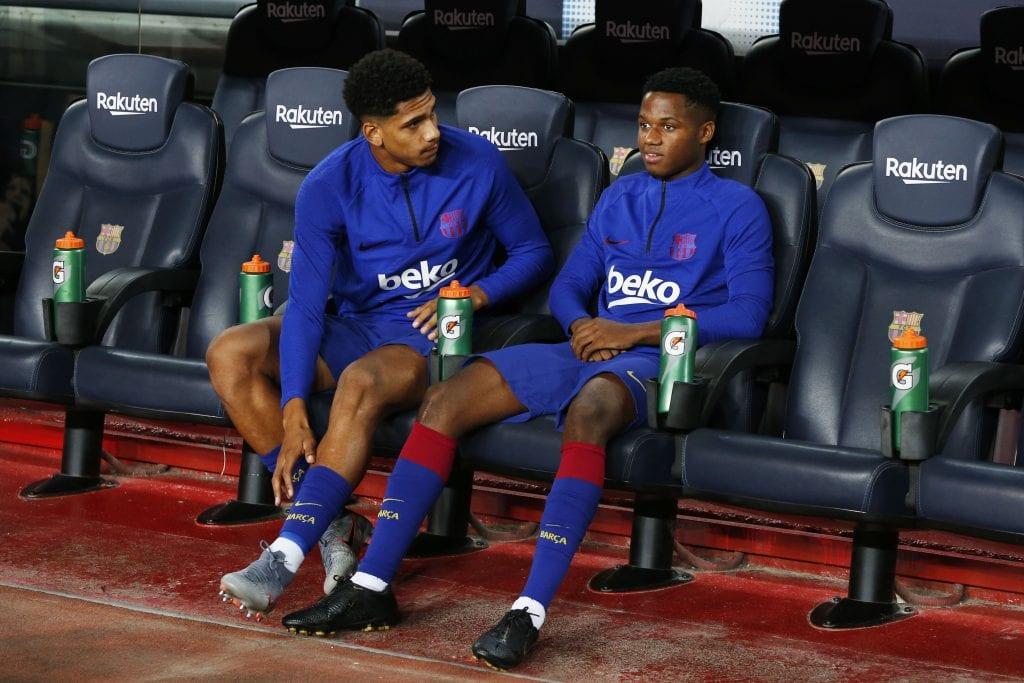 Ansu Fati Ronald Araujo Barcelona line-up