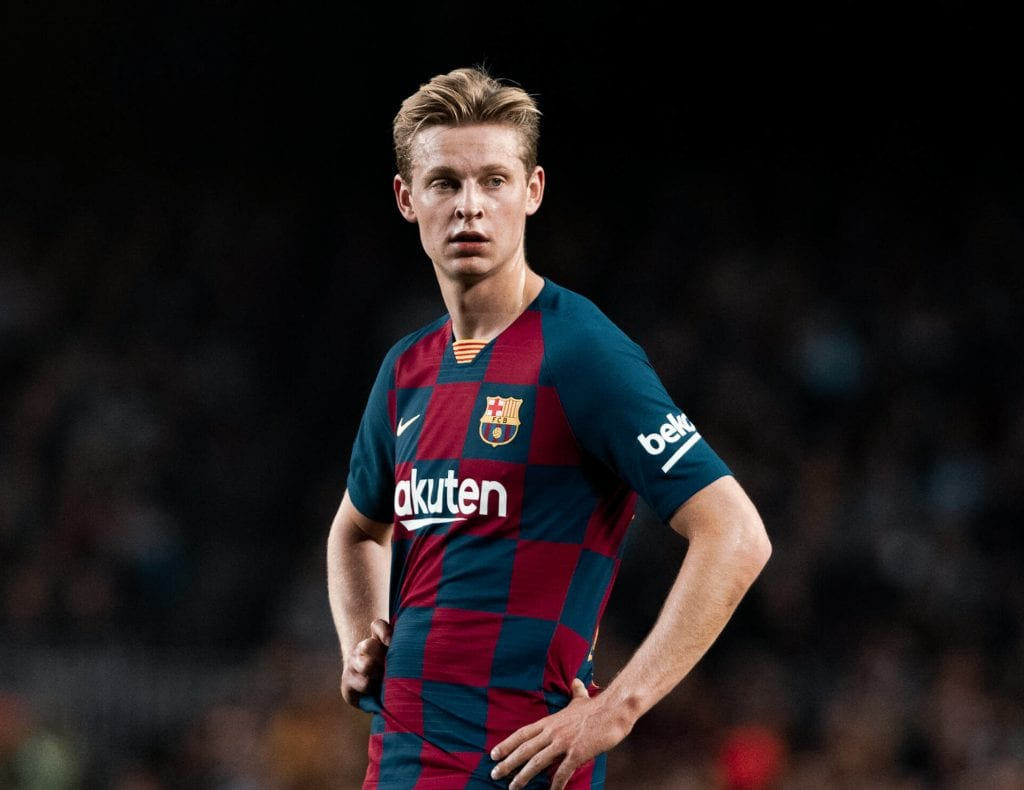Frenkie de Jong how Barça line up