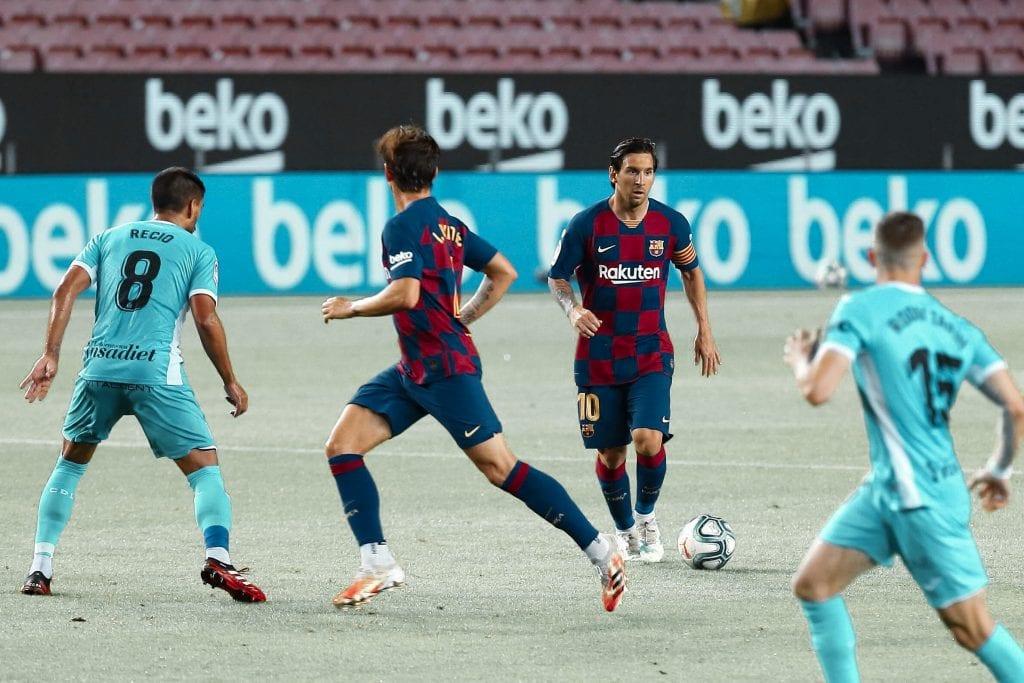 Iván Rakitić Lionel Messi Barcelona Leganés player ratings