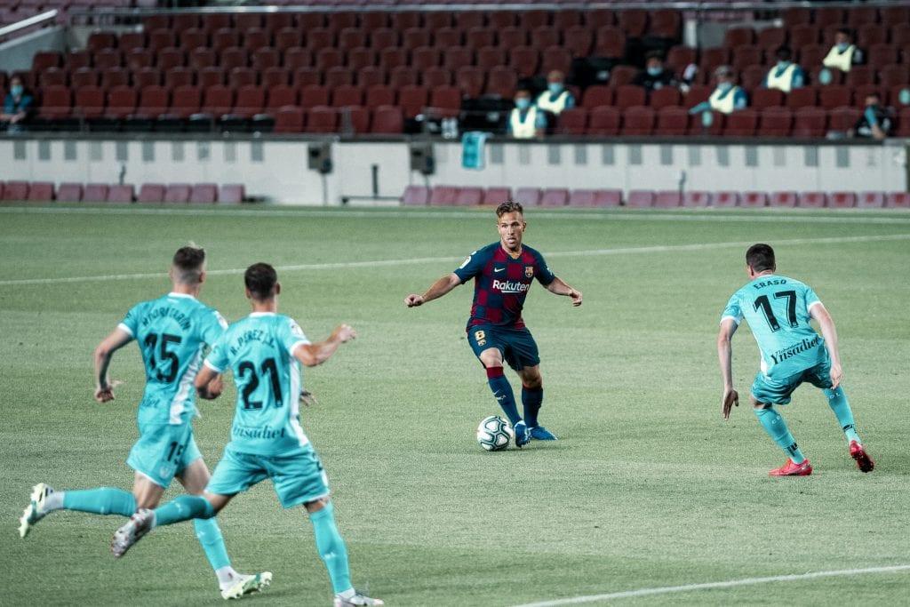 Arthur Melo Barcelona Leganés rotations