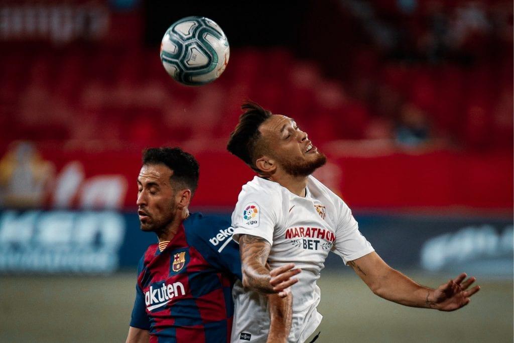 Lucas Ocampos Sergio Busquets Sevilla Barcelona player ratings