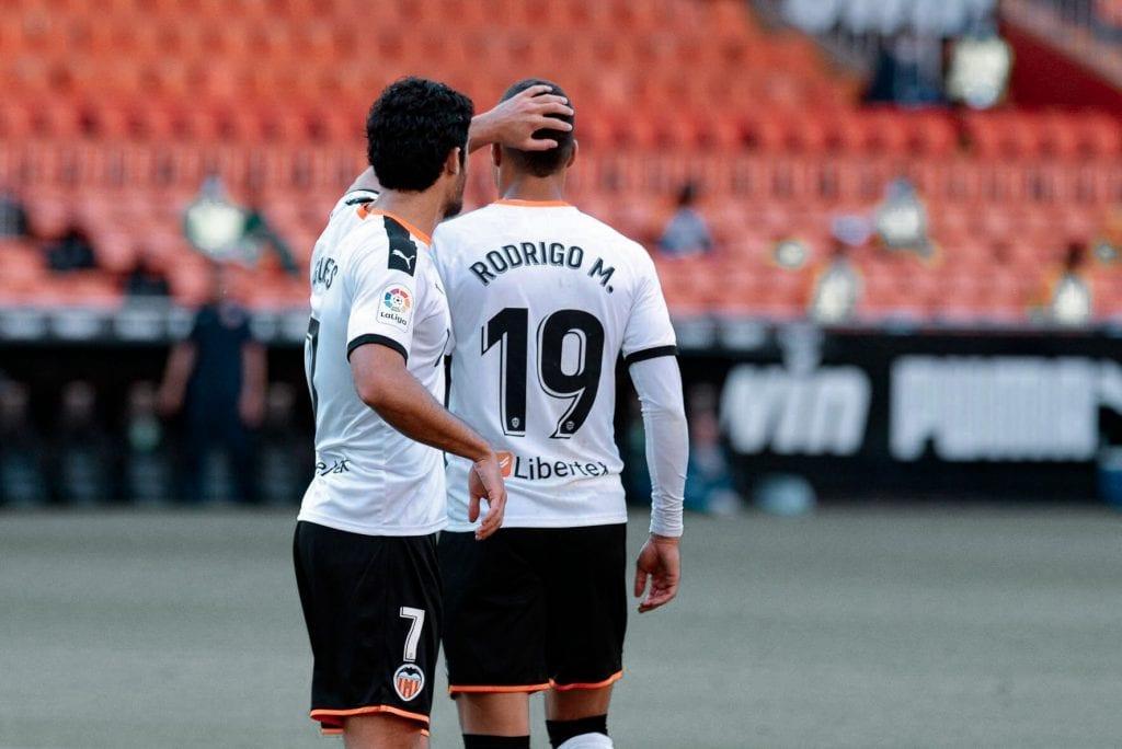 Gonçalo Guedes Rodrigo Moreno Valencia Osasuna La Liga matchday 30
