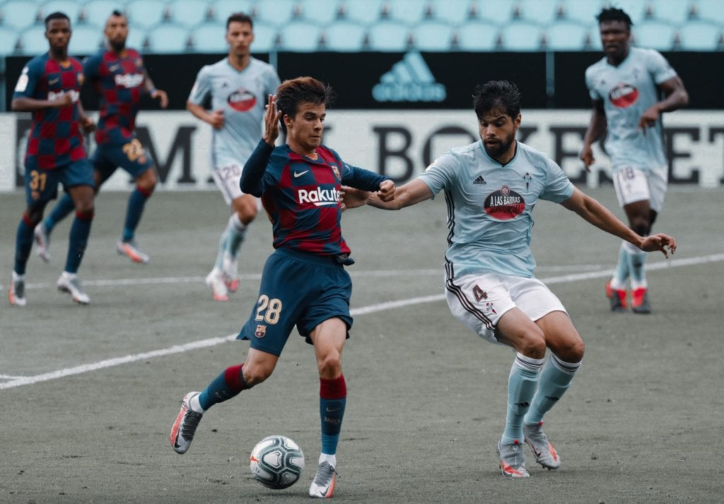 Riqui Puig Barcelona Celta Quique Setién midfield options