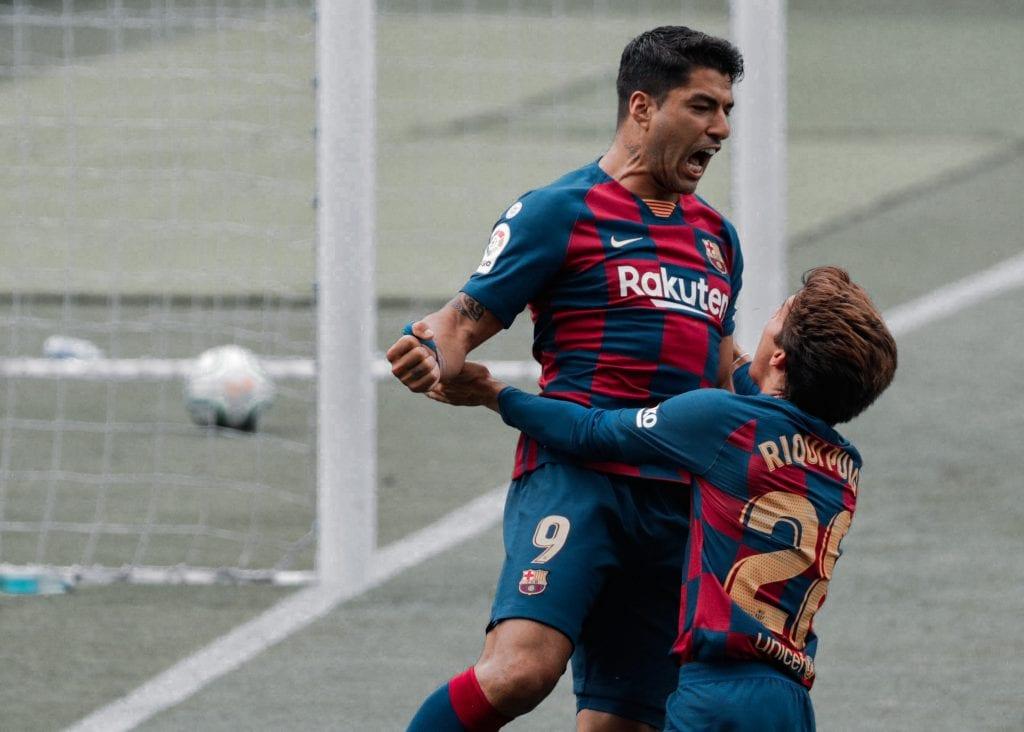 Luis Suárez Barcelona Atlético de Madrid line-up