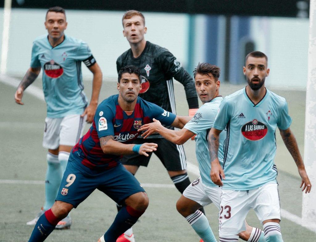 Luis Suárez Kevin Vázquez Barcelona Celta de Vigo takes