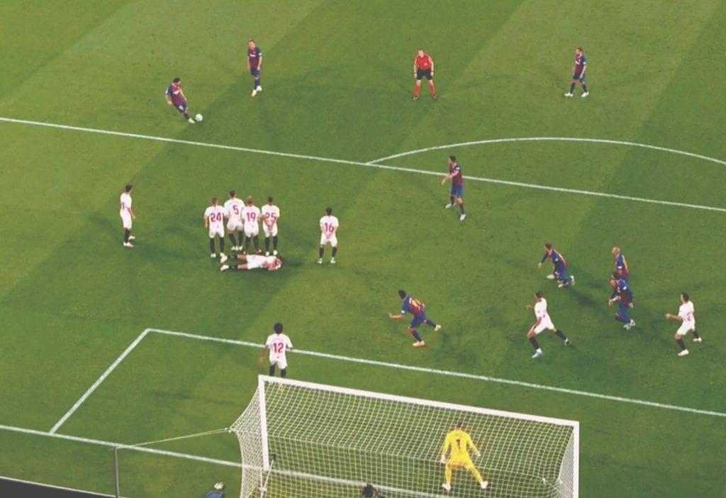 Messi free-kick Sevilla