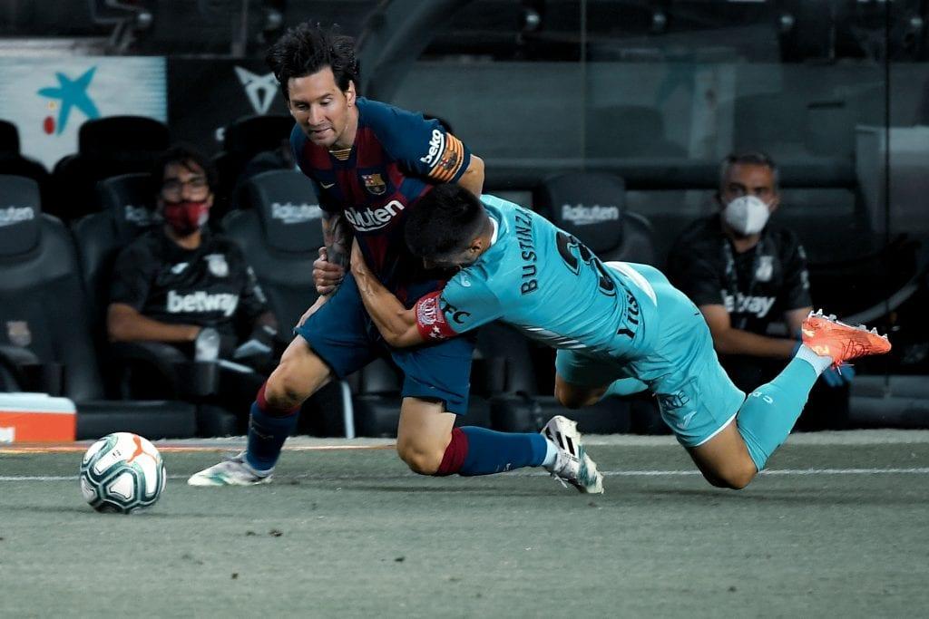 Lionel Messi Bustinza Barcelona Leganés match review