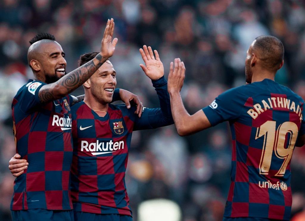 Artur Vidal Arthur Melo Martin Braithwaite Barcelona football rumours