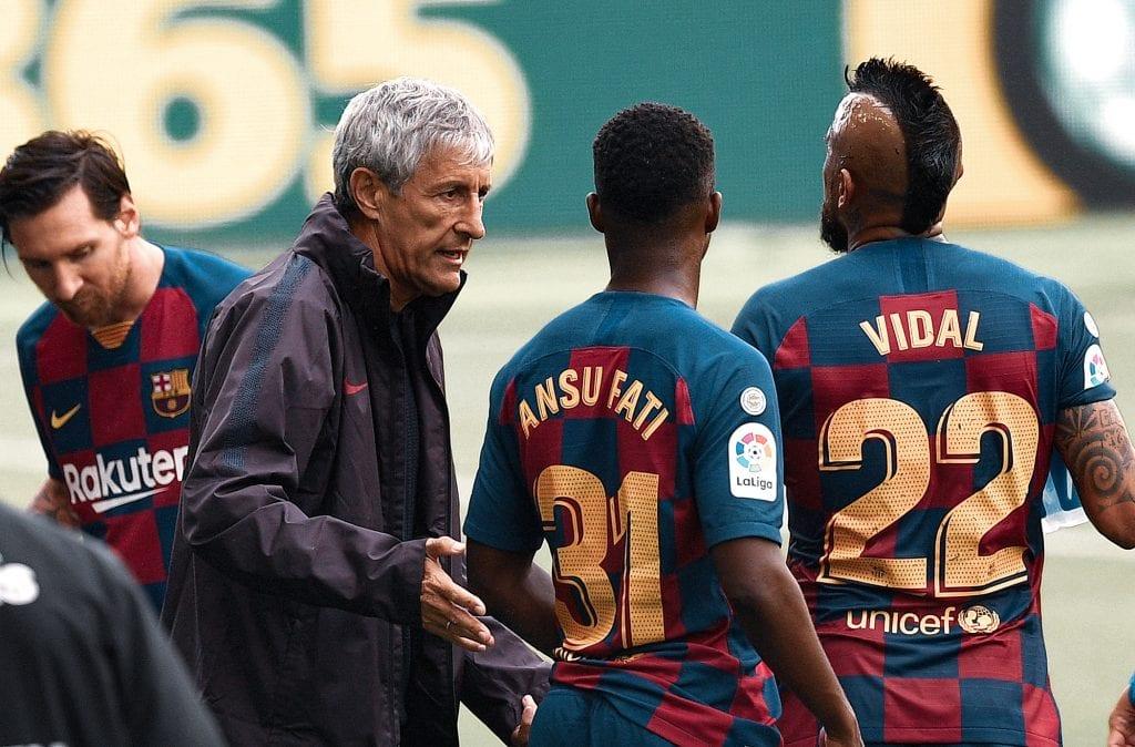 Quique Setién Barcelona time