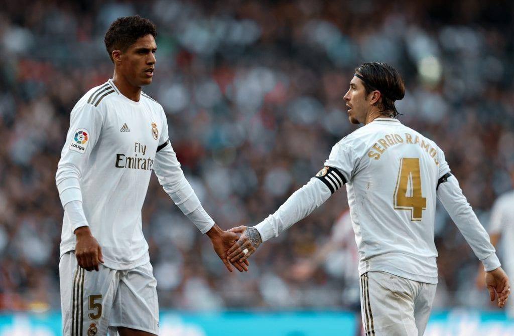 Sergio Ramos Raphaël Varane Real Madrid defence