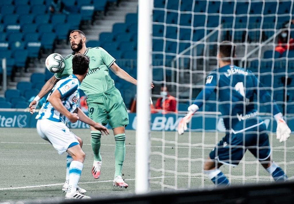 Karim Benzema Real Madrid Real Sociedad La Liga matchday 30