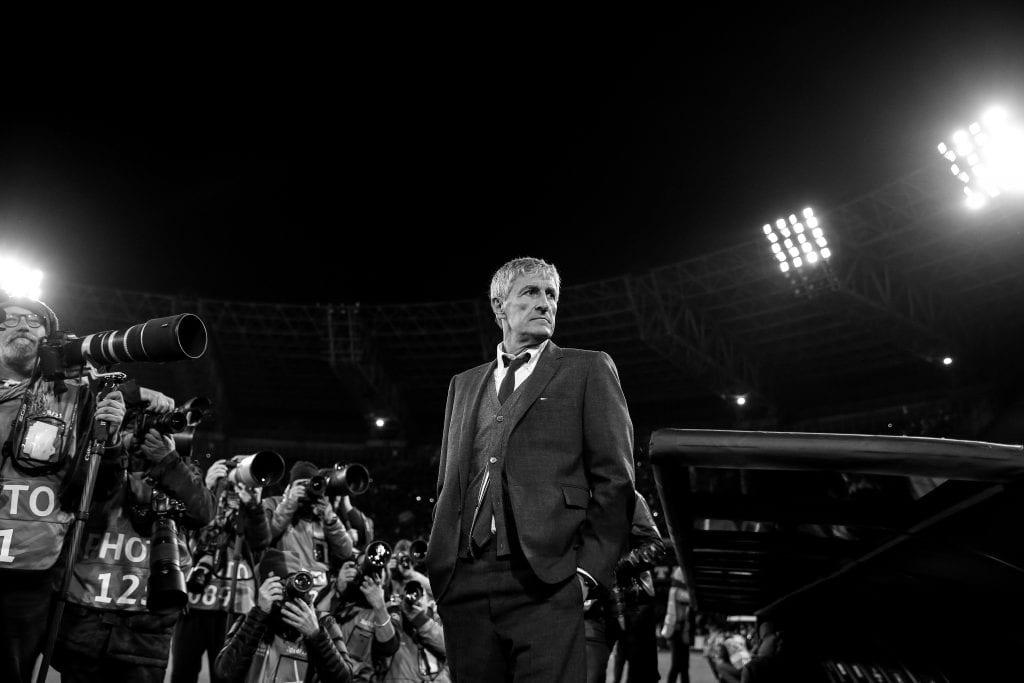 Quique Setién Barcelona Napoli Champions League title favourites