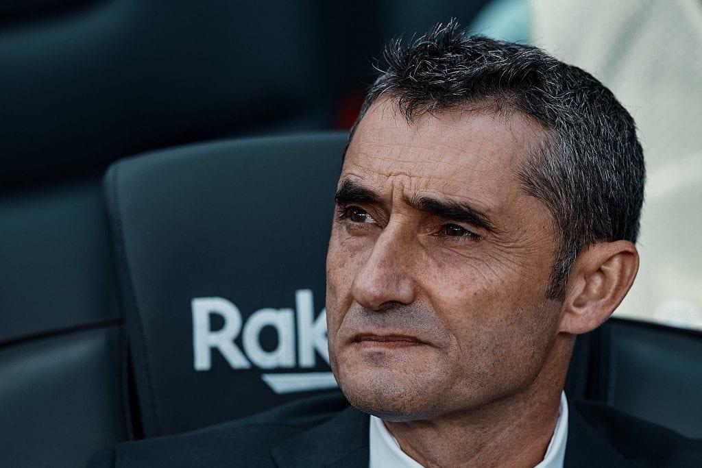 Ernesto Valverde Quique Setién pressure