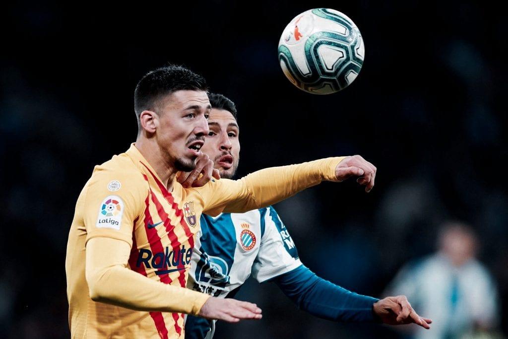 Clément Lenglet Barcelona Espanyol line-up