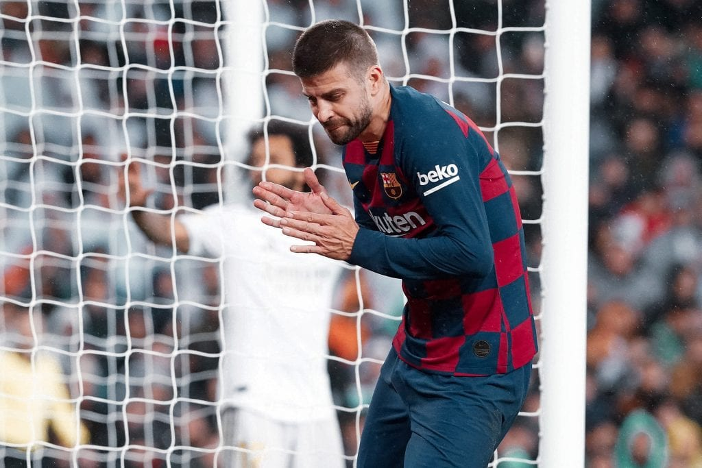 Gerard Piqué Barcelona Osasuna line-up