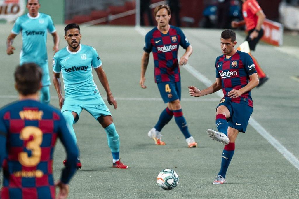 Sergi Roberto Barcelona Villarreal line-up