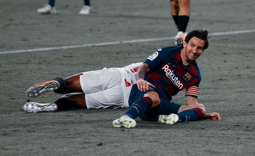 Lionel Messi Barcelona Sevilla away