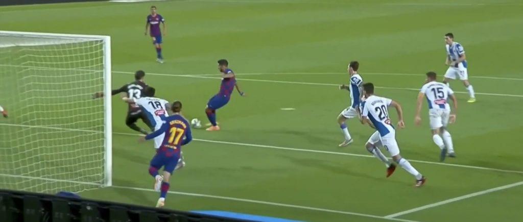 Luis Suárez Barcelona Espanyol goal analysis