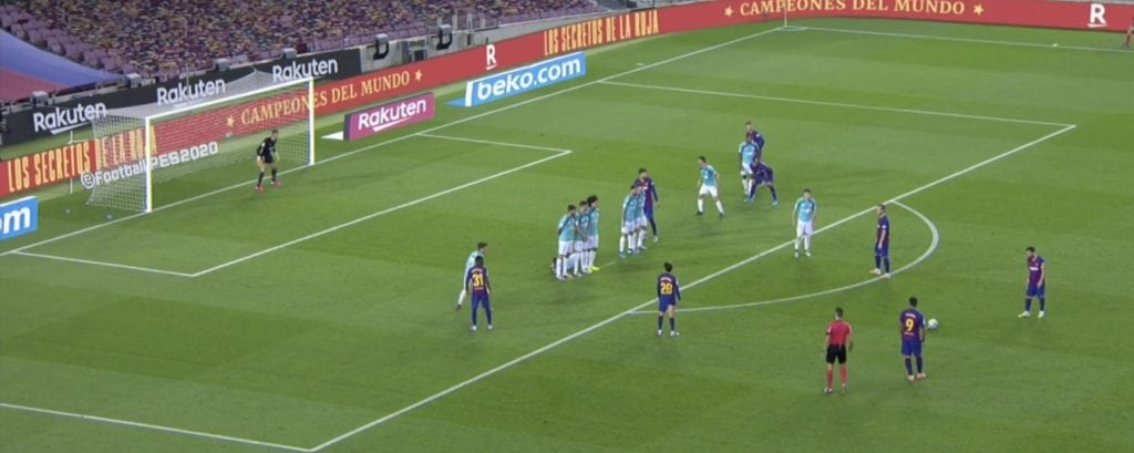 Barcelona Osasuna goals Lionel Messi