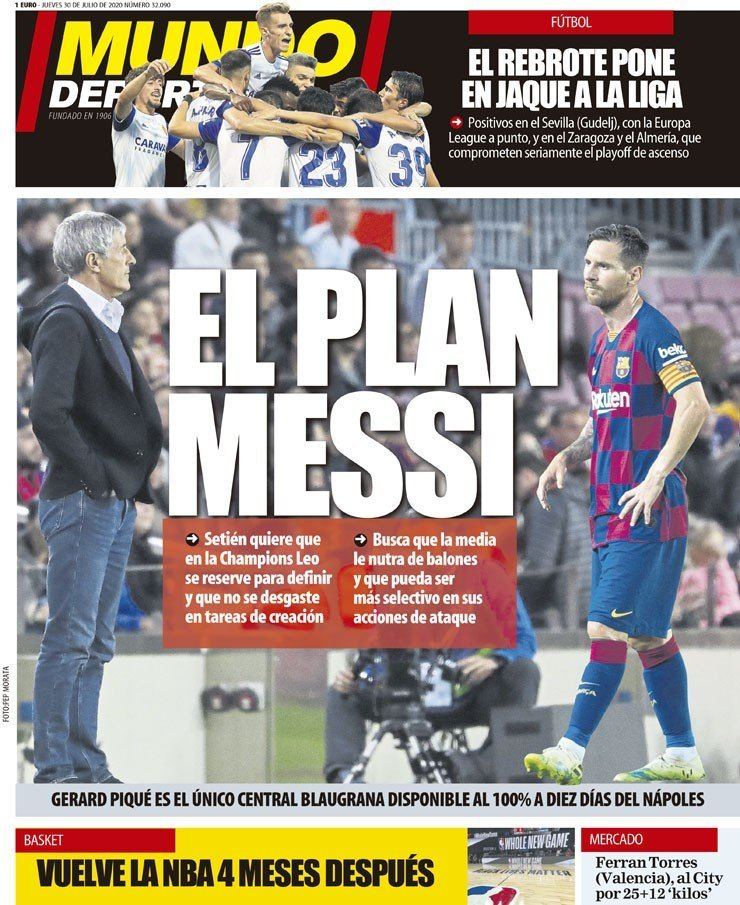 MD Cover Setien Messi