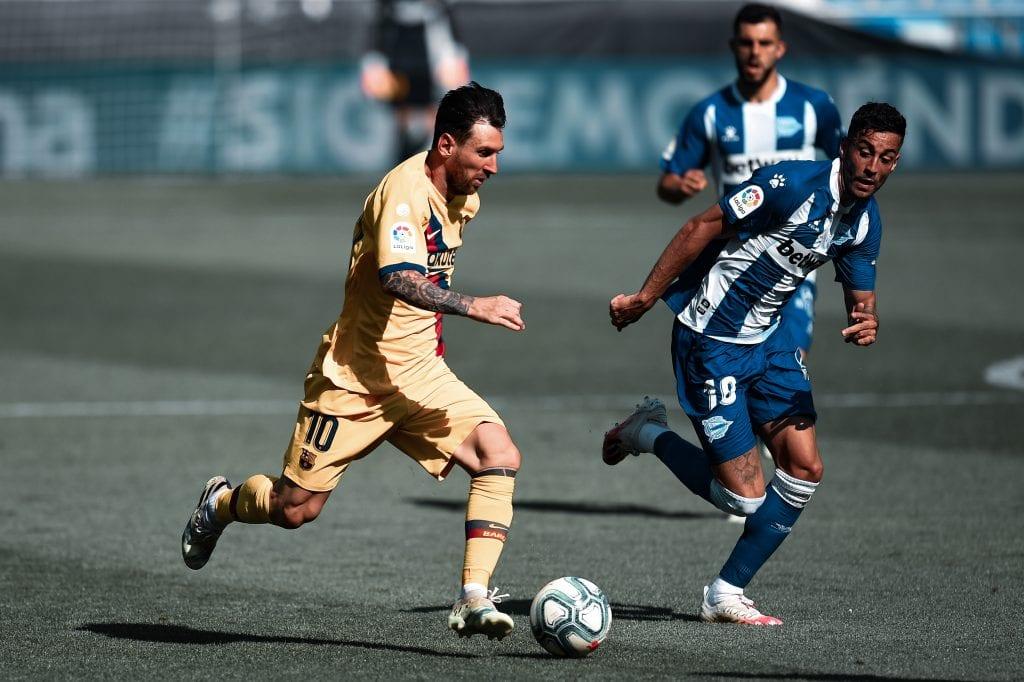 Lionel Messi Barcelona players restart
