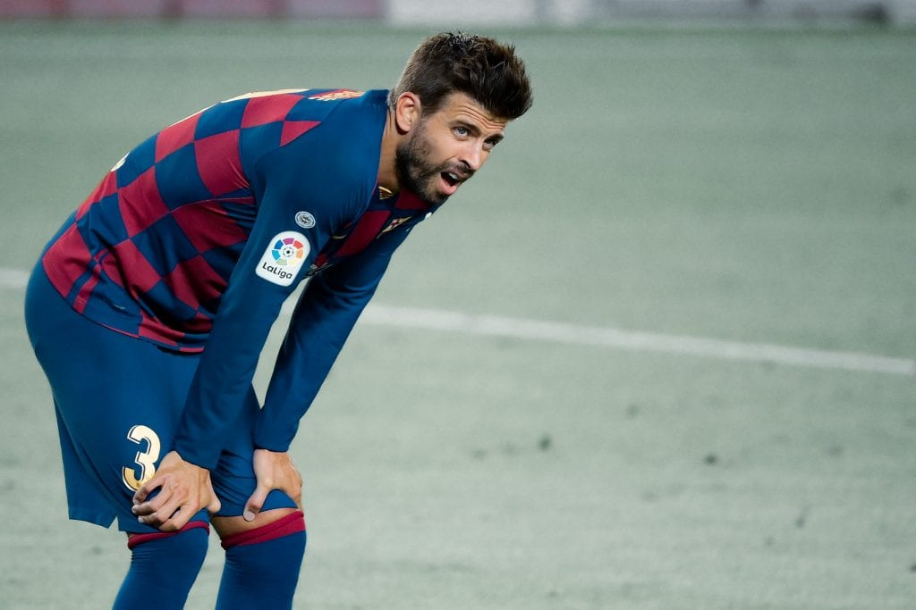 Gerard Piqué Barcelona Espanyol takes