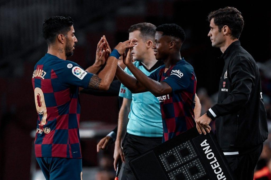 Luis Suárez Ansu Fati Barcelona