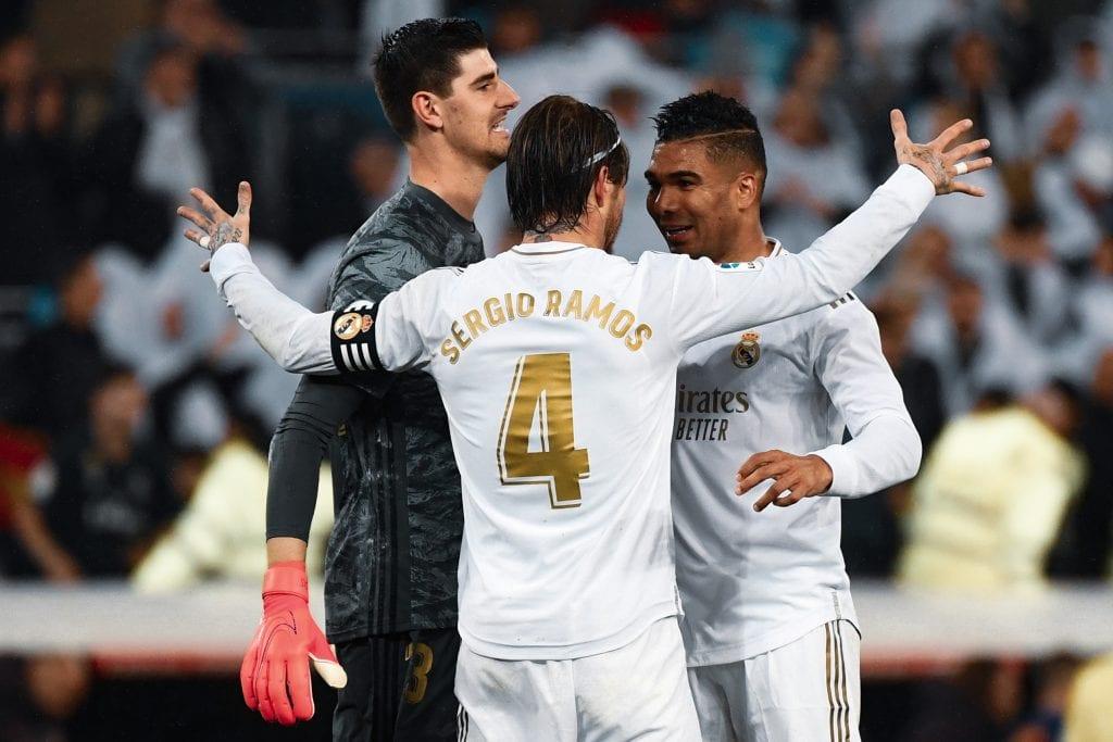 Thibaut Courtois Sergio Ramos Casemiro Real Madrid 2019/20 La Liga review