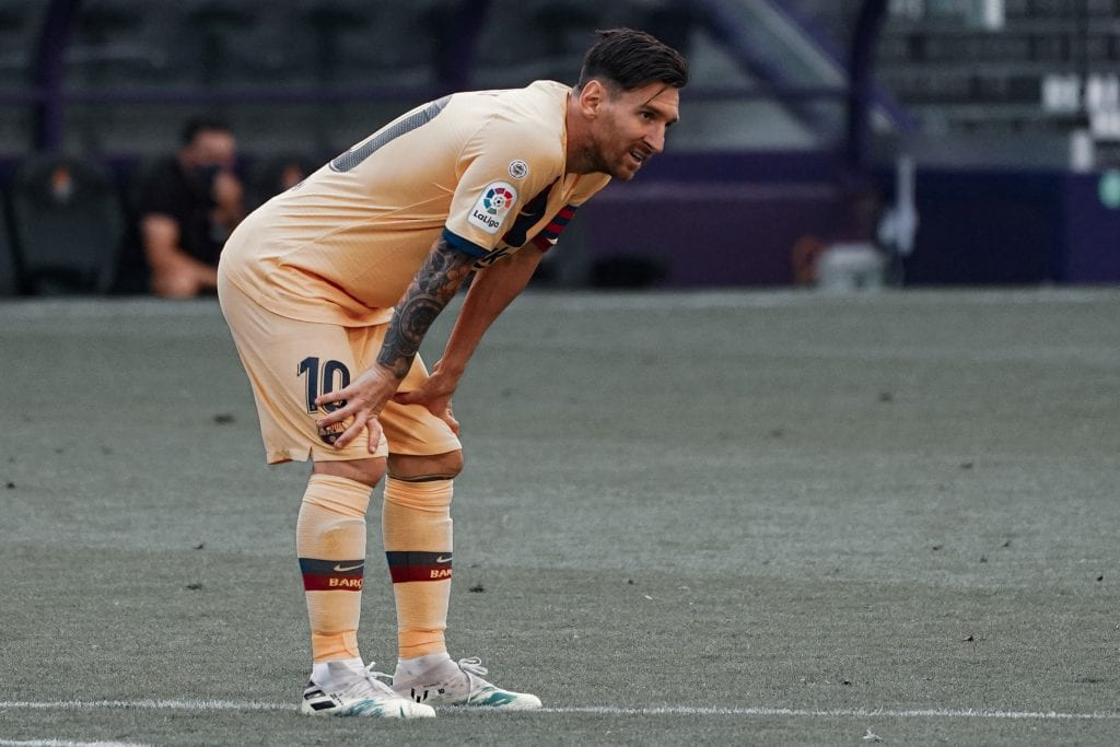 Lionel Messi Barcelona Valladolid rest