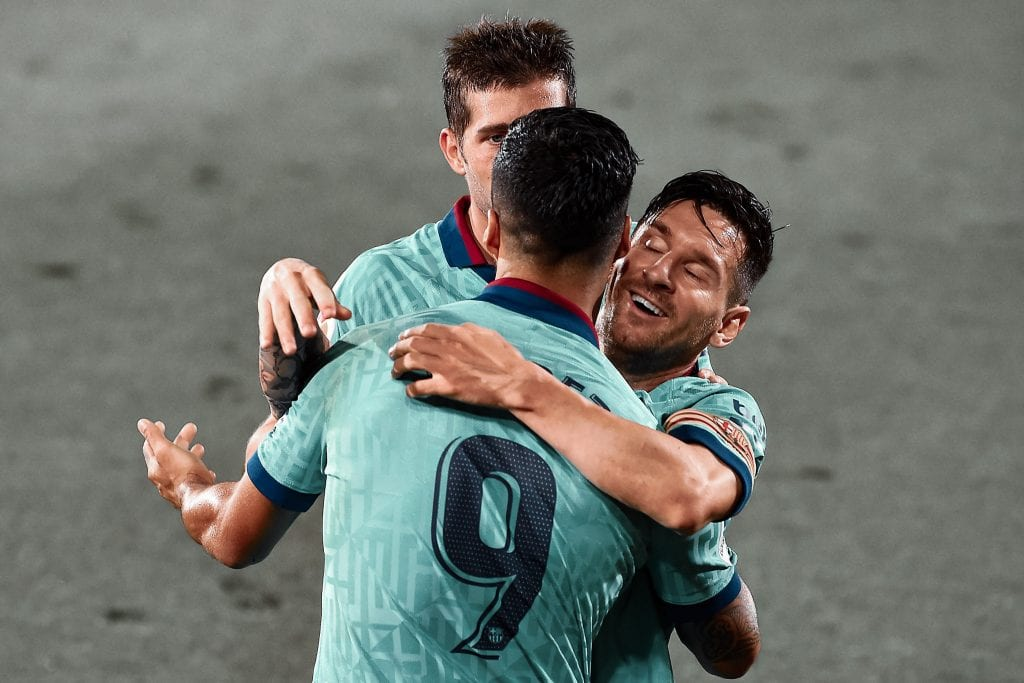 Luis Suárez Lionel Messi Villarreal Barcelona match summary
