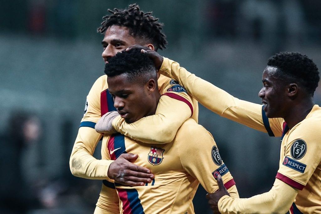 Ansu Fati Barcelona Inter Milan UEFA Champions League