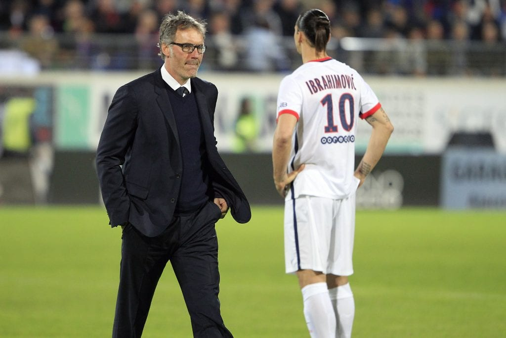 laurent blanc psg ibrahimovic