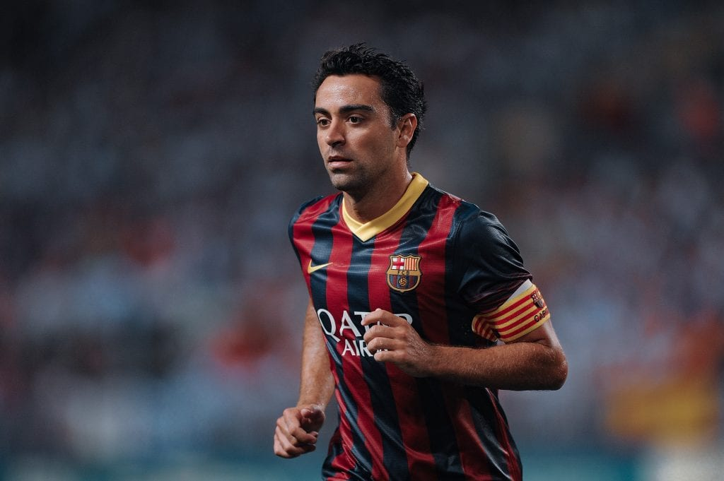 Xavi Hernández coaching Barcelona