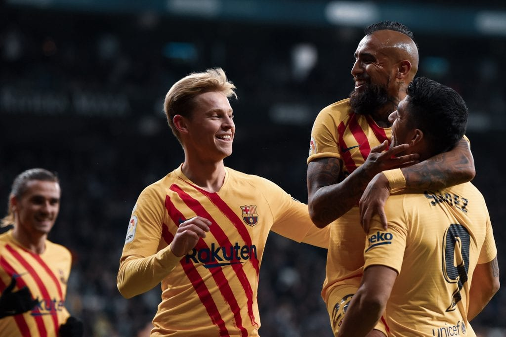 Frenkie de Jong Arturo Vidal Luis Suárez Espanyol Barcelona match preview