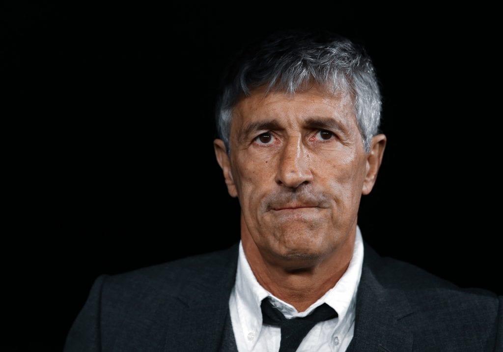 Quique Setién Barça lost La Liga