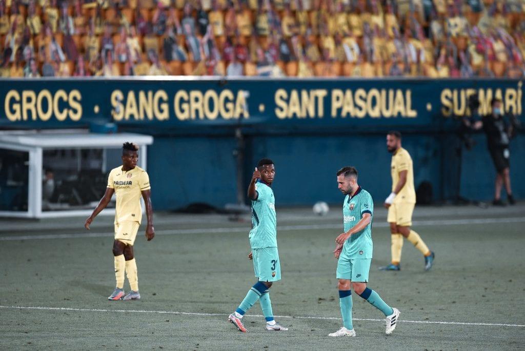 Ansu Fati Jordi Alba form Barcelona Villarreal
