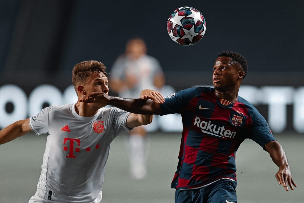 Ansu Fati Joshua Kimmich Barcelona Bayern Munich rebuild