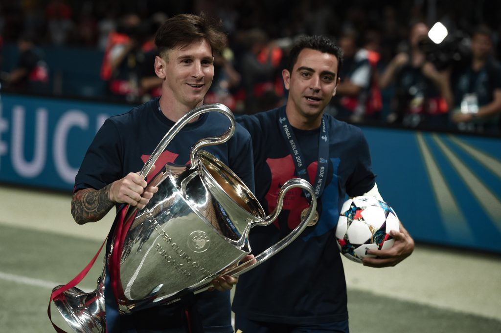 Messi Xavi Champions League