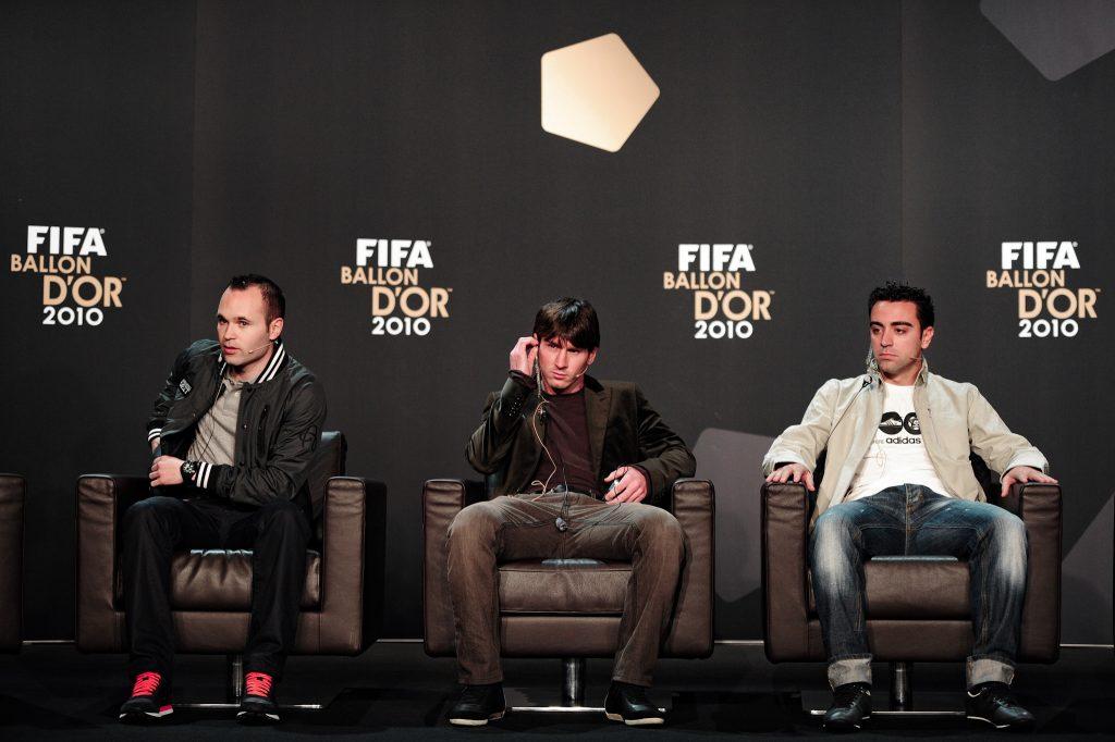 Iniesta Messi Xavi Ballon Dor